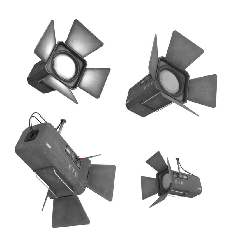 3d model stage lights