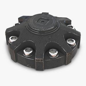 3d industrial end cap 3 model