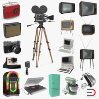 Retro Electronics Collection 3D Models