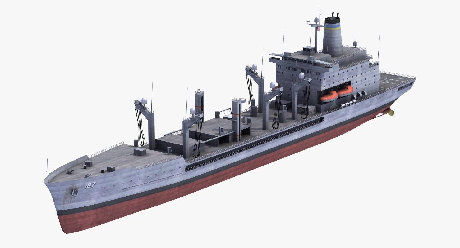 usns j kaiser t-ao-187 3d model