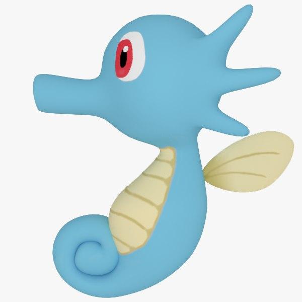 3d horsea pokemon model