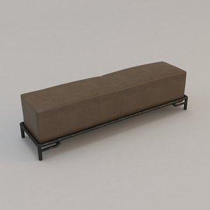 3d kalae bench christian liaigre model