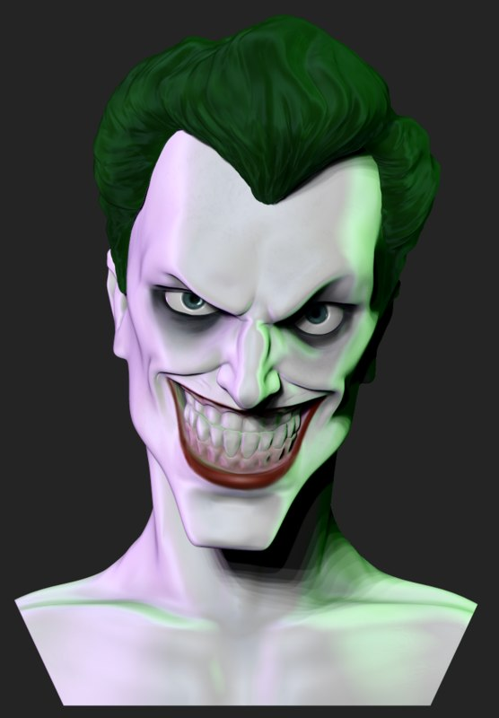 joker bust obj