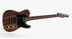 fender telecaster rosewood 3d model