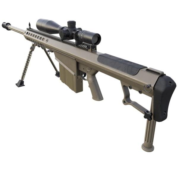 3d m107a1 rifle model