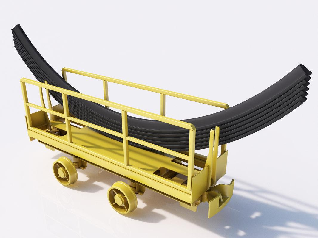 cart steel materials 3d max