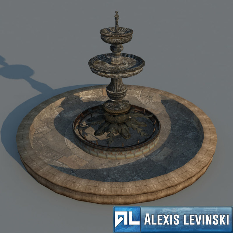 classical fountain 3d model
