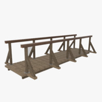 wooden bridge obj
