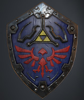 hylian shield pbr 3d model