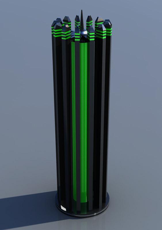 lamp futuristic floor 3d obj