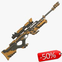 sniper rifle sci-fi 3d max