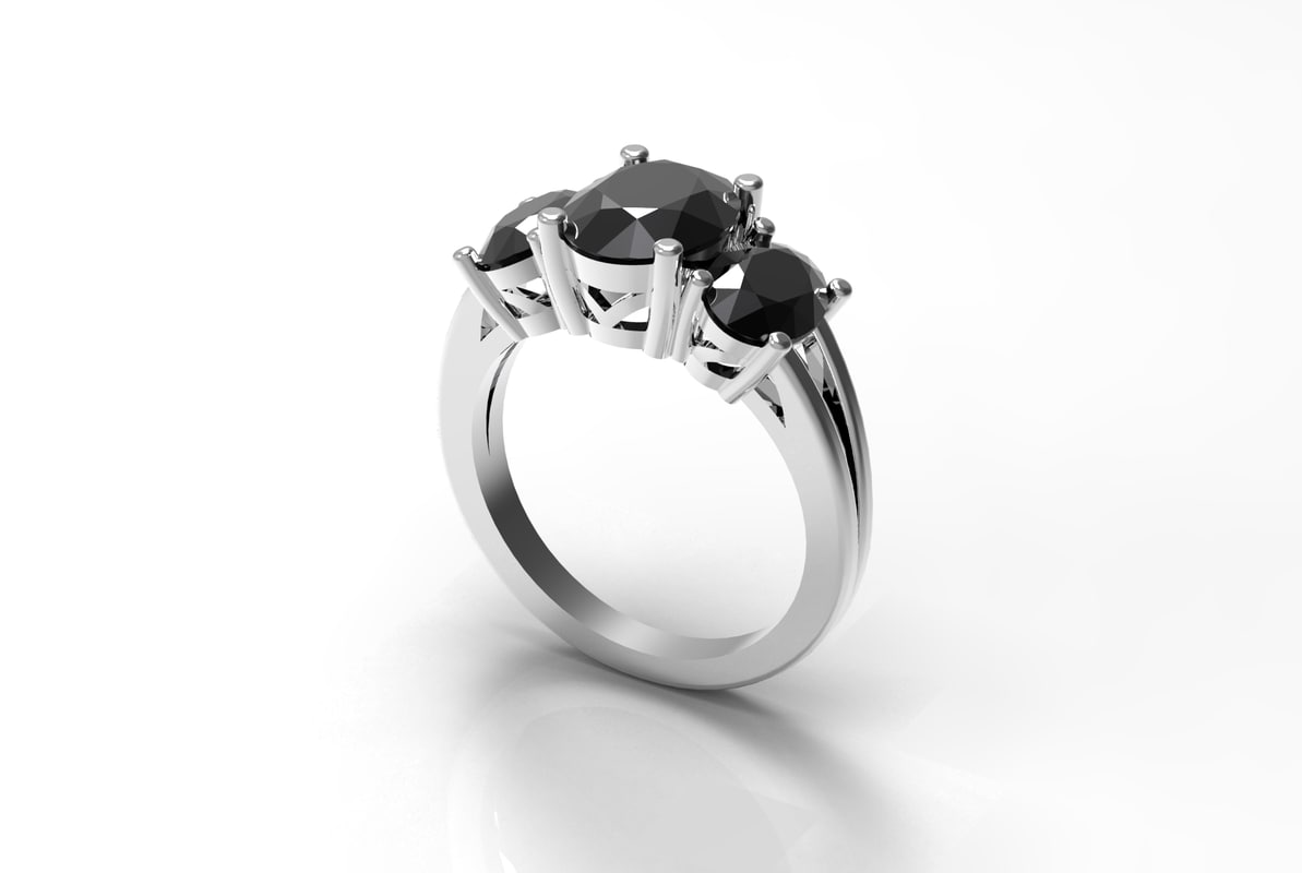 stone oval ring 3d model