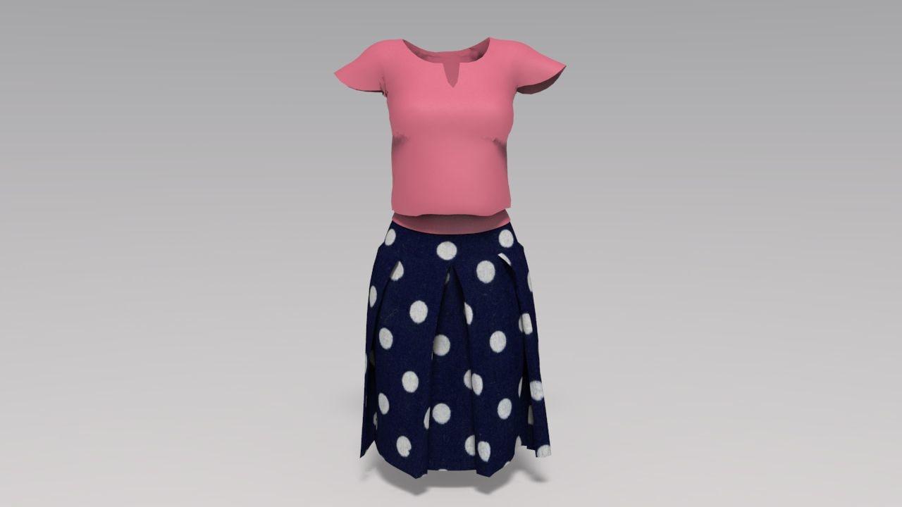 woman clothes obj