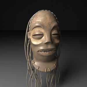 voodoo mask 3d obj