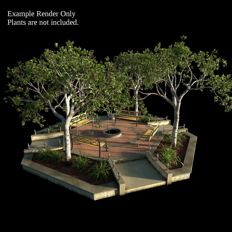 3d model small octagonal garden bed