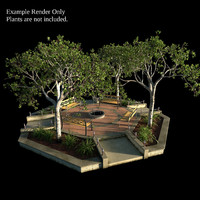 3d model small octagonal garden bed