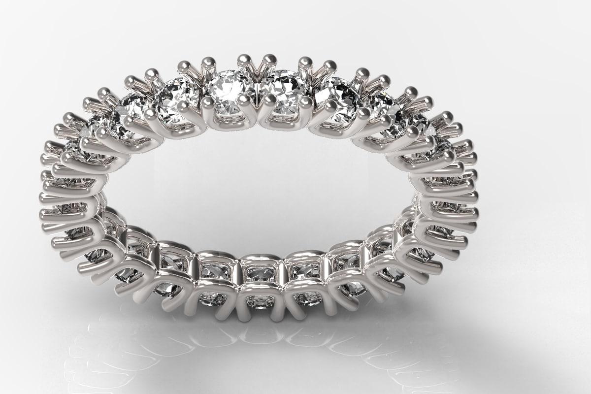 3d model diamond size 6 eternity