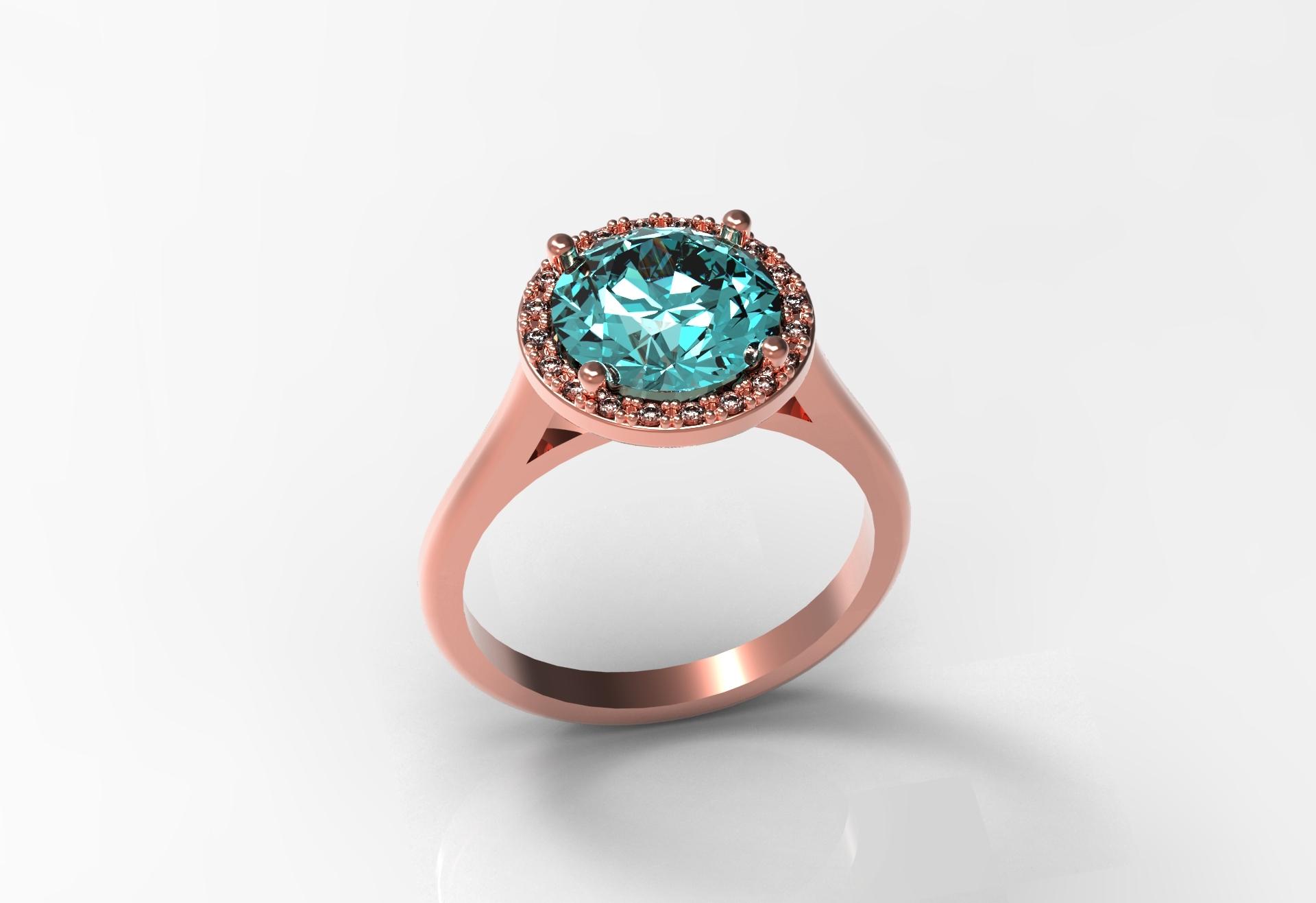 9mm center halo ring