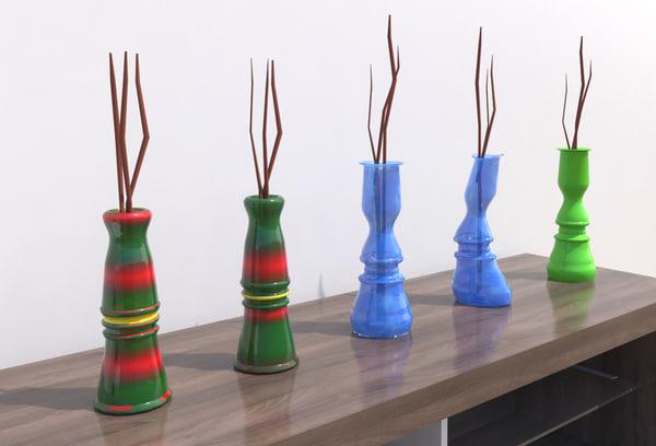 3d flower vases model