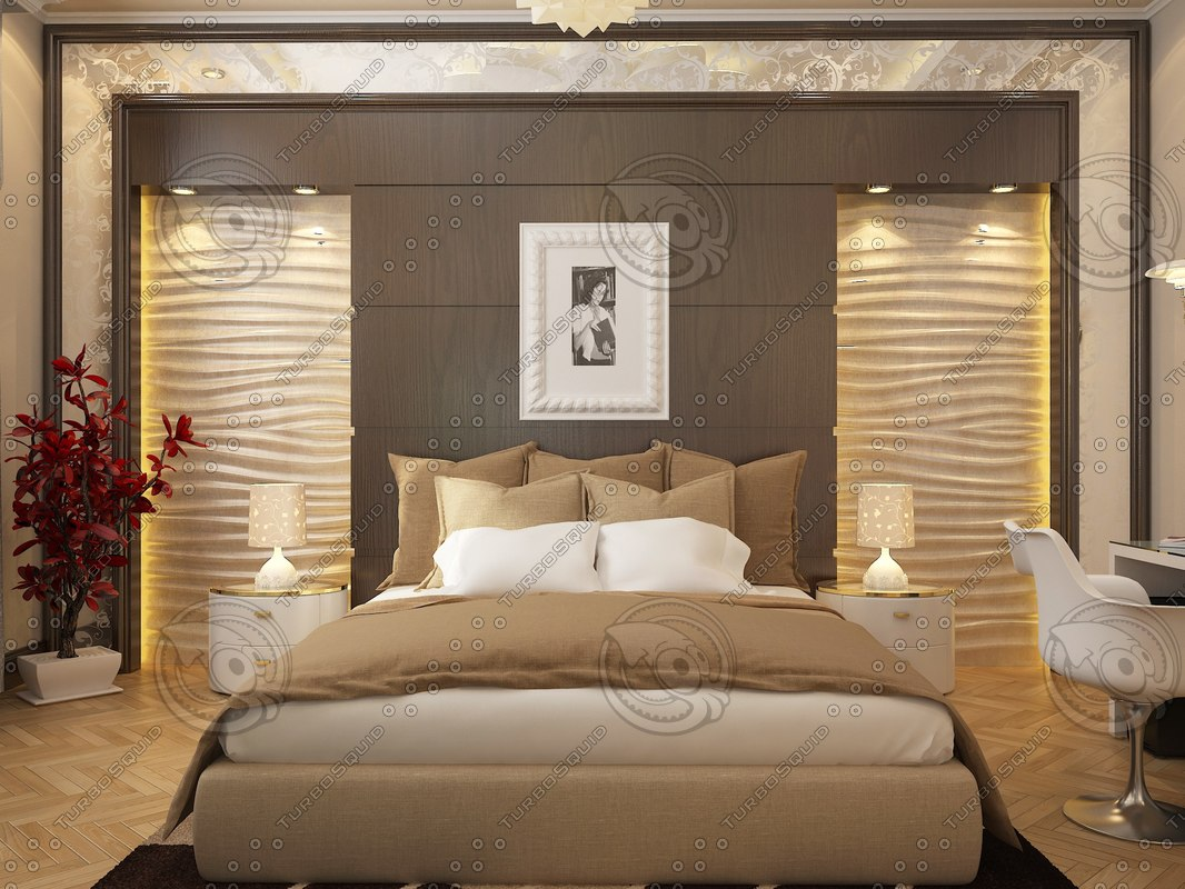 3d bedroom modern model