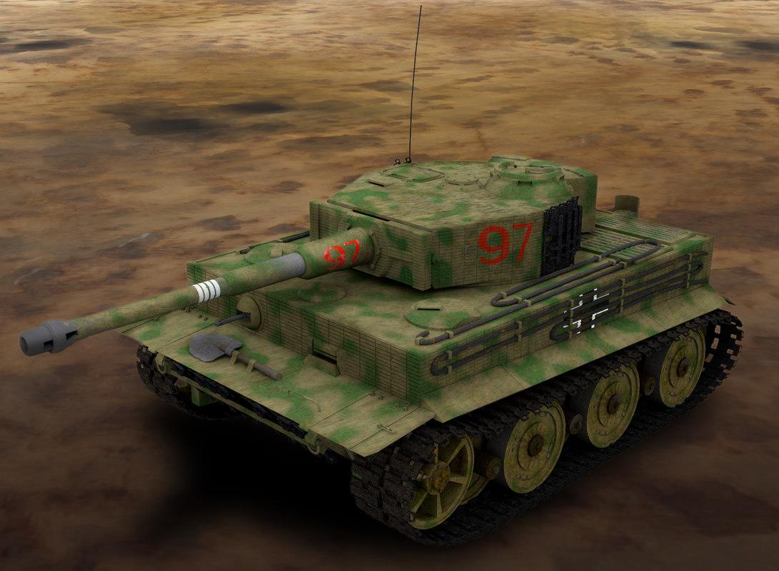 wwii german tiger tank 3d max
