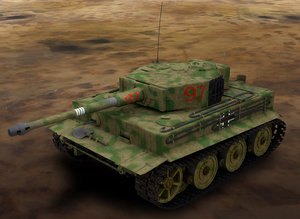 wwii german tiger tank 3d max