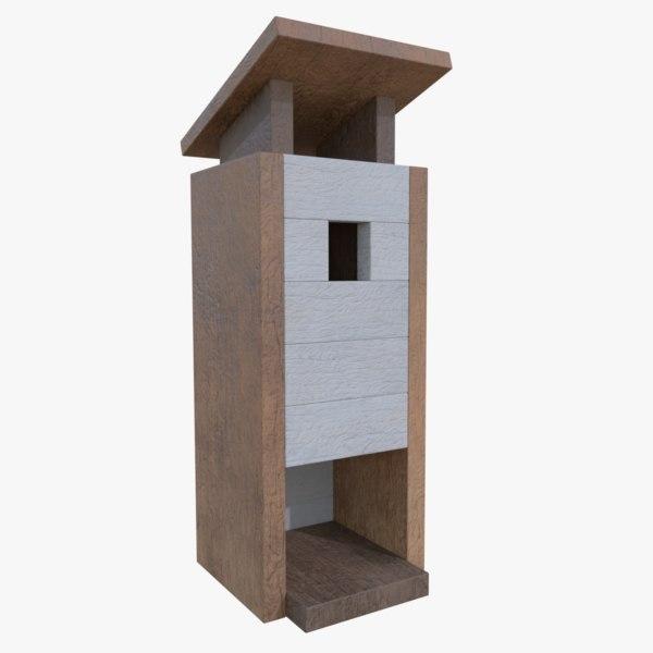 subdivision birdhouse blender 3d obj