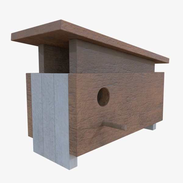 subdivision birdhouse blender 3d model