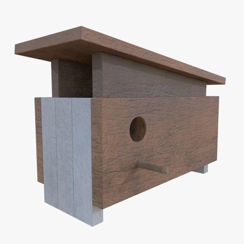 subdivision birdhouse blender 3d model