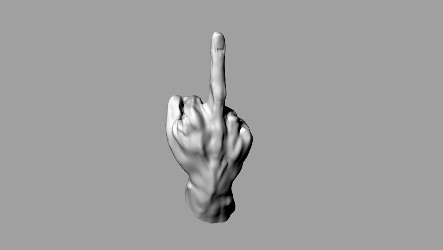 3d hand print print3d model