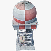 radar tower obj