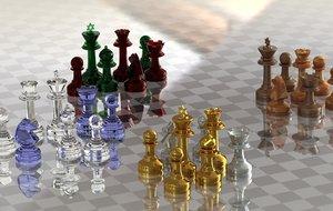 chess star david set 3d 3ds