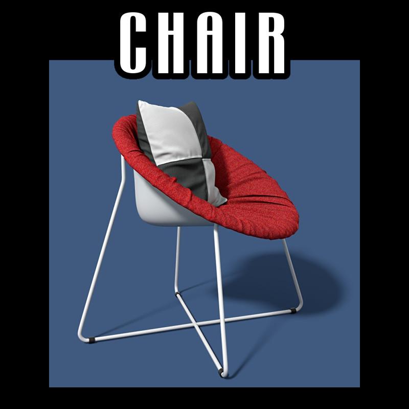 obj chair pillow
