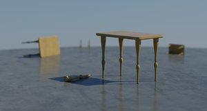 3d model table scene setup