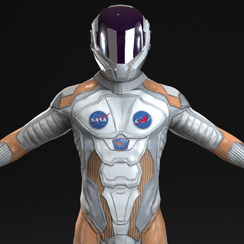 astronaut 3d max