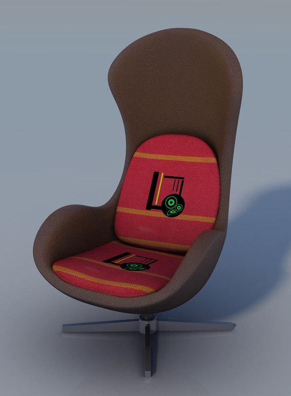 3d armchair seating chair