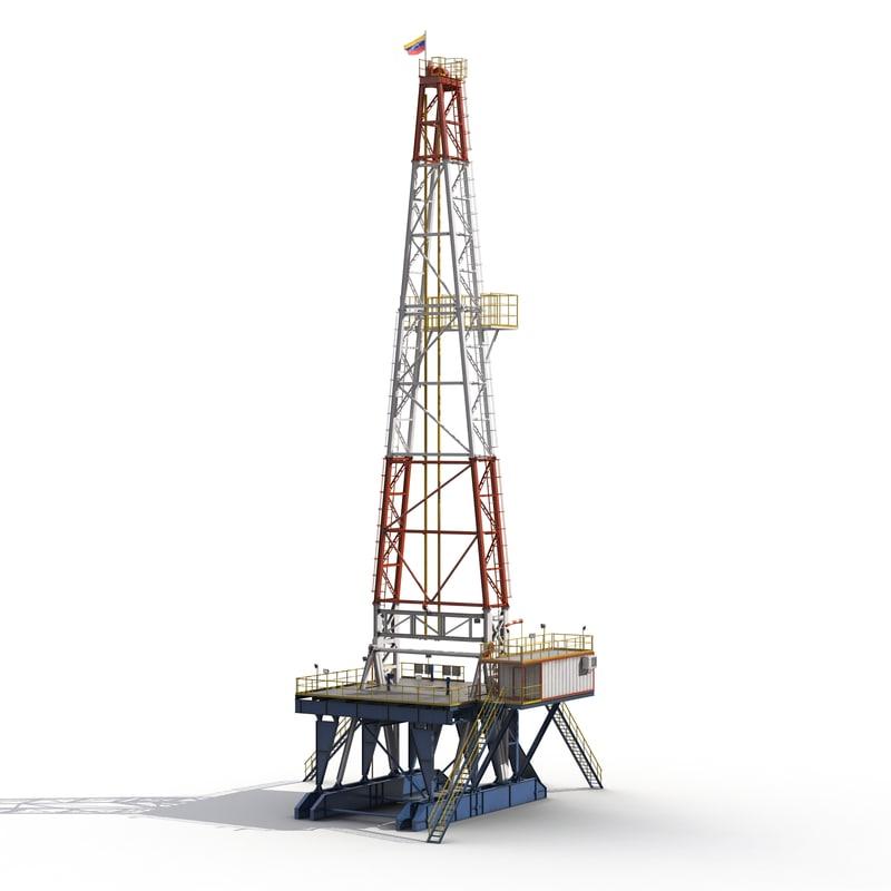fracking gas platform 2 3d max