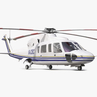 3d model helicopter sikorsky s76