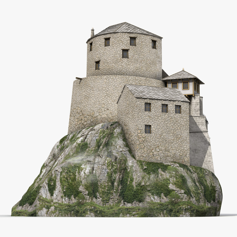 Old Castle on the Hill vray 3d model 00.jpg