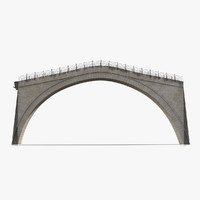 3d model ottoman bridge stari