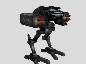 avion combat robot 3d model