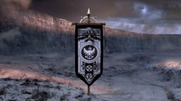 Night's Watch banner flag