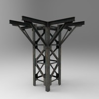 helipad stand 3d model