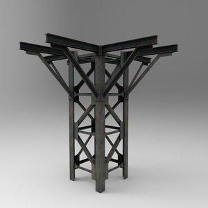 helipad stand 3d model