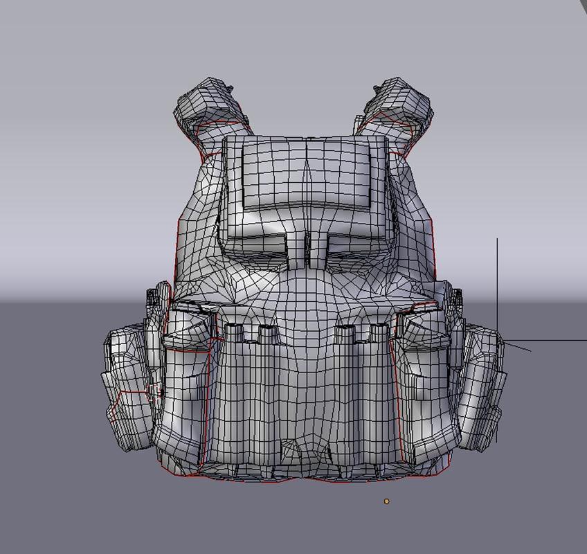 3d model of combat vest
