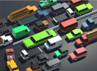 Low Poly Toon type Cars Pack with 10+Vehicles