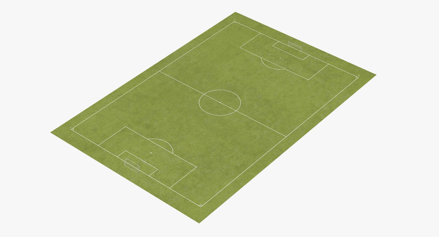 3d model soccer pitch