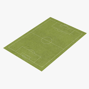 3d model soccer pitch