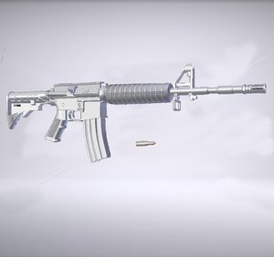 3d model of m4a1 rifle