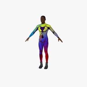 3d model male rigged